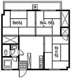岡上第一ビル[302号室]の間取り
