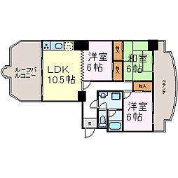 上前津中央マンション[805号室]の間取り