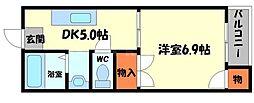ケイティマンション[3階]の間取り