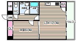 阪神ハイグレードマンション3番館[7階]の間取り