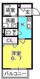 ルヴァンディス夙川[104号室]の間取り