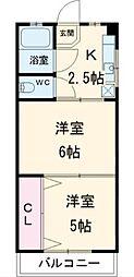 宇田川マンション[3階]の間取り