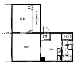 長崎県長崎市新大工町の賃貸マンションの間取り