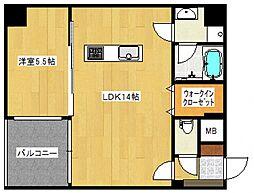 アレイIII[2階]の間取り