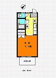 ハイツシラギク2号館[202号室]の間取り