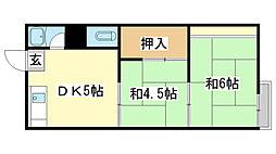 東辻井アパート[2-5号室]の間取り