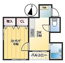 ロックハイムIII[2階]の間取り