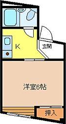 大阪府泉大津市戎町の賃貸マンションの間取り