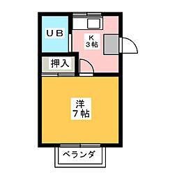 イレブン春日井[2階]の間取り