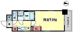 ファーストフィオーレ新梅田 10階1Kの間取り