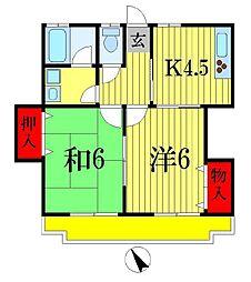 パーム夏見台[1階]の間取り