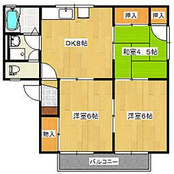 ファミール隅田 A棟[1階]の間取り