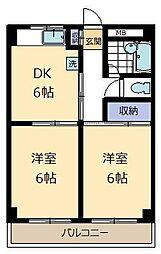 アートけやき台マンション[3階]の間取り