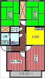 ビリジアンロッジ[2階]の間取り