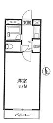 クオーレ平成[205号室]の間取り