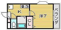 エヴァースAKETA[4階]の間取り