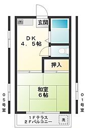 白糸荘[1階]の間取り