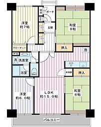 千葉県浦安市入船6丁目の賃貸マンションの間取り