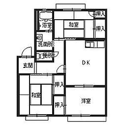 パークコート・マチヤ[2階]の間取り