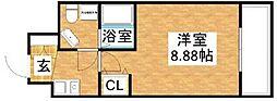セレニテ十三[9階]の間取り