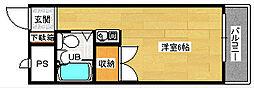 広島県広島市南区東雲本町2丁目の賃貸マンションの間取り