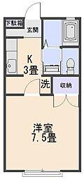 メゾンドマーム辰巳[202号室]の間取り