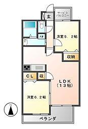 P−SQUARE Shumoku II[7階]の間取り