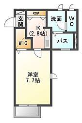 ルシェルクレールE[2階]の間取り
