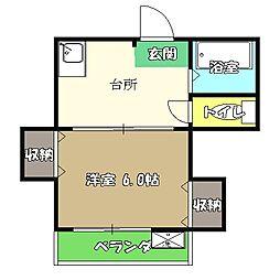 高知県高知市塩田町の賃貸マンションの間取り