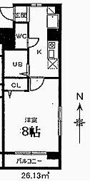 メゾンアソシエ鶴舞[2階]の間取り
