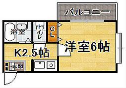 福岡県福岡市博多区千代4丁目の賃貸マンションの間取り