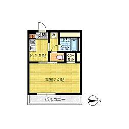 パーチェ・川崎[102号室]の間取り