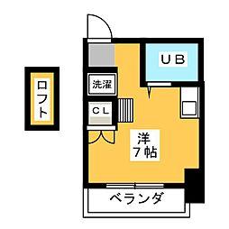 シャトウ大森[2階]の間取り