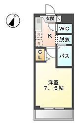 愛知県稲沢市北市場町東玄野の賃貸マンションの間取り