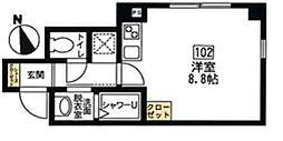 神奈川県横浜市中区宮川町1丁目の賃貸マンションの間取り