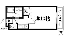 メイプル南花屋敷[1階]の間取り