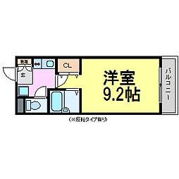 リアンジェ園田[2階]の間取り