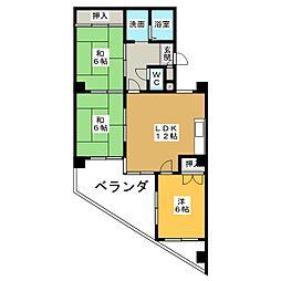 日映マンションII[6階]の間取り