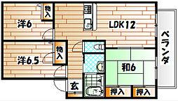 サニーハウス大浦[1階]の間取り