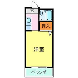 浜谷マンションII[203号室]の間取り