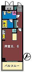 ダイワティアラ津田沼6[210号室]の間取り