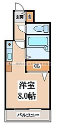 CTビュー小阪[4階]の間取り