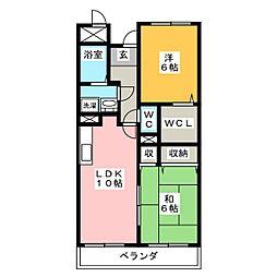 サンクレッテ[2階]の間取り