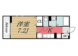 千葉県千葉市花見川区花園町の賃貸アパートの間取り