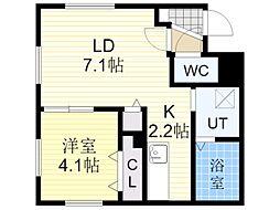 札幌市営東豊線 北13条東駅 徒歩5分の賃貸マンション 5階1LDKの間取り