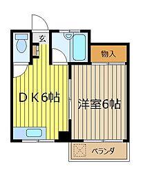 コーポ栗原[3階]の間取り