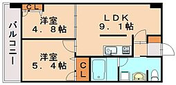 S−FORT福岡東[8階]の間取り