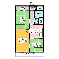 仁科ハイツ A[2階]の間取り