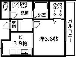 ミモ[1階]の間取り