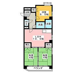 日映マンションⅡ[8階]の間取り